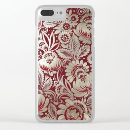 Christmas stocking in petrykivka style Clear iPhone Case
