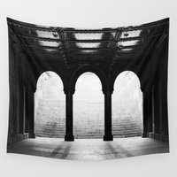 noir Wall Tapestries featuring NYC Noir by The Dreamery