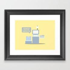 Self Service - Unexpected Item Framed Art Print