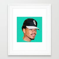 chance the rapper Framed Art Prints featuring Chance by Joshua Burkett Designs