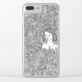 In the Leaves Original Illustration Clear iPhone Case