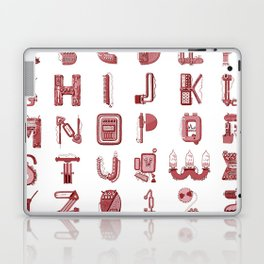MACHINE LETTERS - red color Laptop & iPad Skin