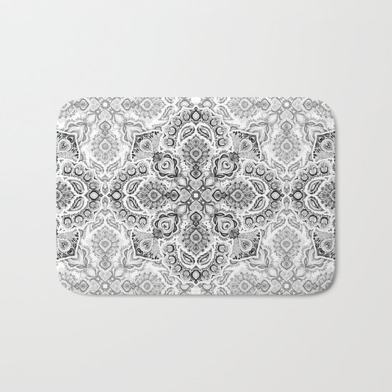 Pattern in Black & White Bath Mat