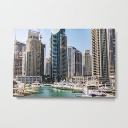 Dubaï, The Marina World Metal Print