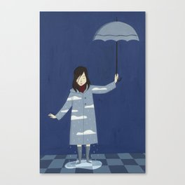 Raining Canvas Print