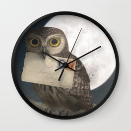 Owl Post Wall Clock