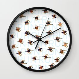 Keep on Running Wall Clock