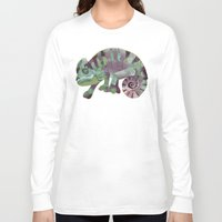 chameleon Long Sleeve T-shirts featuring chameleon by Ruud van Koningsbrugge