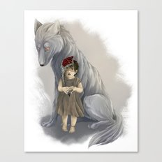 neither human nor wolf Canvas Print
