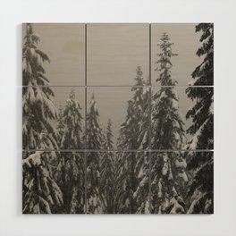 Snow Trees Wood Wall Art