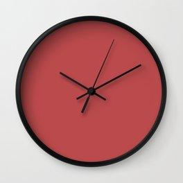 Cranberry Color Accent Wall Clock