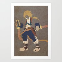 zidane Art Prints featuring Zidane by JHTY