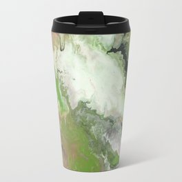 Fluid Flowered Marble Travel Mug