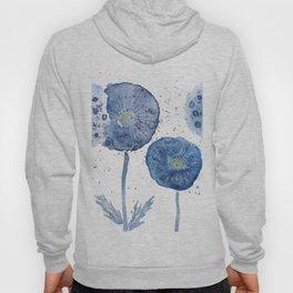 4 indigo abstract dandelion 2 Hoody
