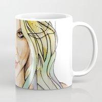 britney Mugs featuring BRITNEY S. by CARLOS CASANOVA