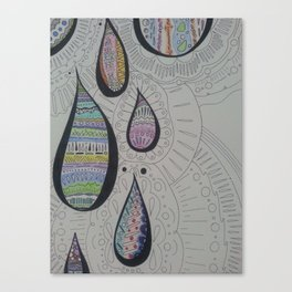 Paisley Tears Canvas Print