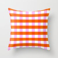 allyson johnson Throw Pillows featuring Allyson by Anh-Valérie
