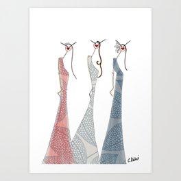 THE GLAM SQUAD Art Print