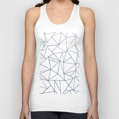 Ab Dotted Lines Navy Unisex Tank Top