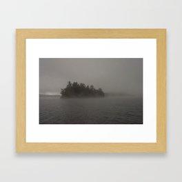 Foggy Island Framed Art Print