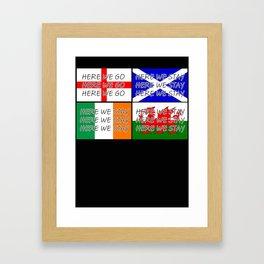 English Fan Joke T Shirt Framed Art Print