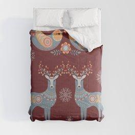 Nordic Winter Red Comforters