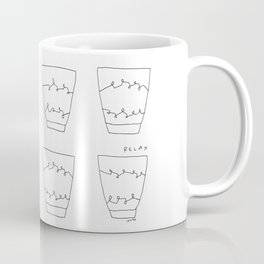 Have Some Tea and Relax - tea cups illustration black white pattern Coffee Mug