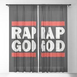 RAP GOD Sheer Curtain