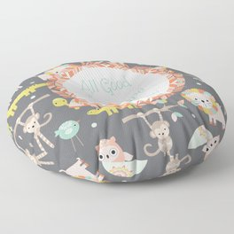 All Good Things Are Wild and Free Floor Pillow