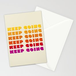 KEEP GOING - POSITIVE QUOTE Stationery Cards