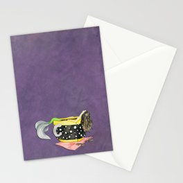 Mermaid Bathing in a Cup of Tea Stationery Cards