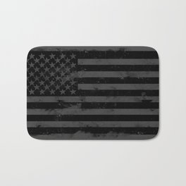 Black American Flag Bath Mat