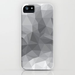 Gray Polygon Background iPhone Case