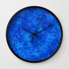Frozen Leaves 6 Wall Clock