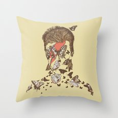 FACES OF GLAM ROCK Throw Pillow