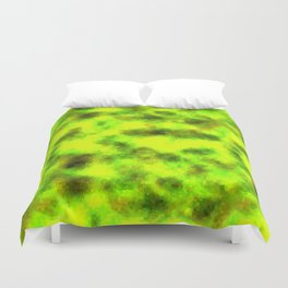 Stained Glass Camo -- BioHazard Duvet Cover