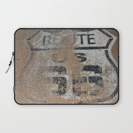 Historic old Route 66 sign. US 66. Laptop Sleeve