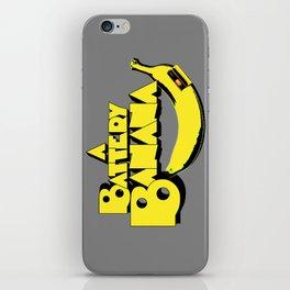 A Battery Banana iPhone Skin