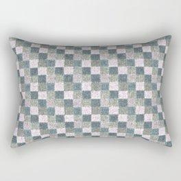 Rustic Pink Sage Patchwork Rectangular Pillow