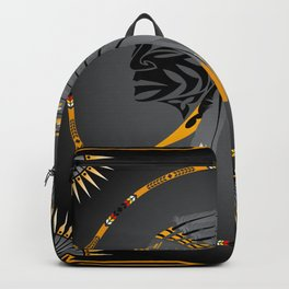 Honor and Strength Yellow Backpack