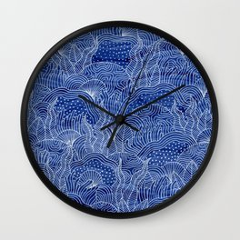 Coral Reef - Indigo Wall Clock