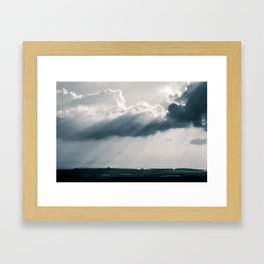 Rays Through a Passing Cloud- Koenigswinter, Germany Framed Art Print