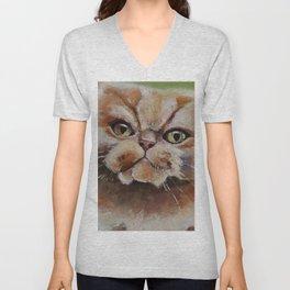 Cat, red hair, animal, persian Unisex V-Neck