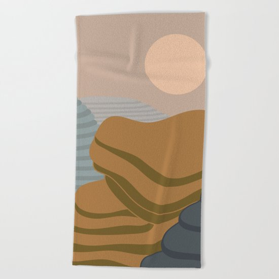 Terraced fileds Beach Towel