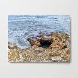 Ocean Crashing Metal Print