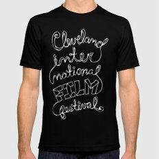Scripted MEDIUM Mens Fitted Tee Black