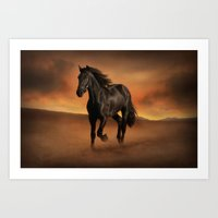 Freedom in the Desert Art Print