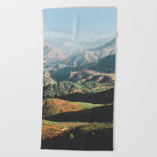 Layers of the Atlas Mountains, Africa Beach Towel