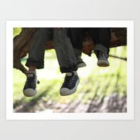 converse Art Prints featuring Converse by joonitree photography