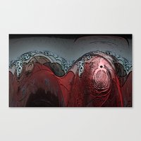 walrus Canvas Prints featuring Walrus by Davey Charles